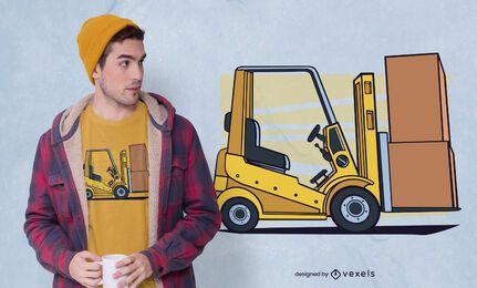 Forklift t-shirt design