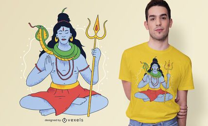 diseño de camiseta de hinduismo shiva