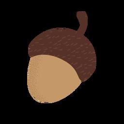 Icono de bellota con textura plana