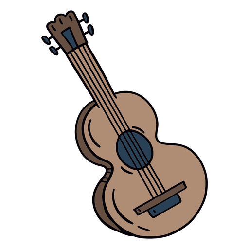 Acoustic guitar hand drawn