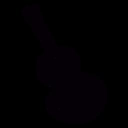 Acoustic guitar hand drawn black