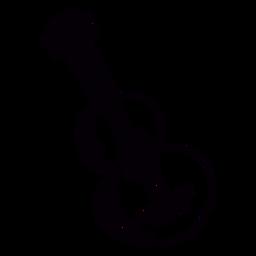 Contorno dibujado a mano de guitarra acústica