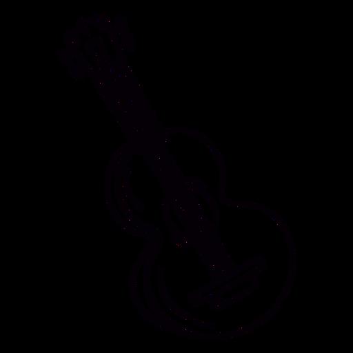 Acoustic guitar hand drawn outline Transparent PNG