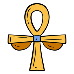Ankh hand drawn egypt symbol