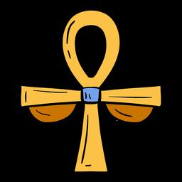 Ankh mão desenhada símbolo do Egito