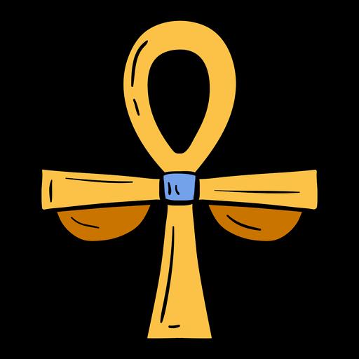 Símbolo de Egipto dibujado a mano ankh