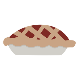Tarta de manzana plana