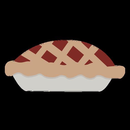 Apple pie flat Transparent PNG