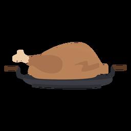 Cena de pavo al horno plana