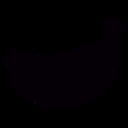 Estêncil de frutas de banana mão desenhada