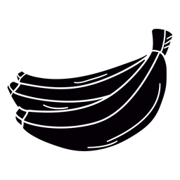 Plantilla de fruta de plátano dibujado a mano