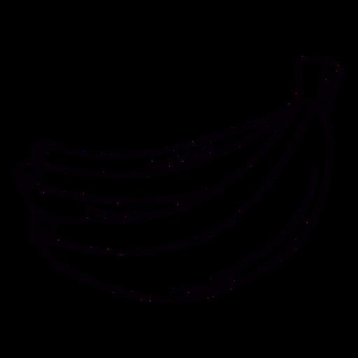 Trazo dibujado a mano de plátano