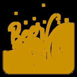 Bier Babe braun quadratischen Untersetzer Design