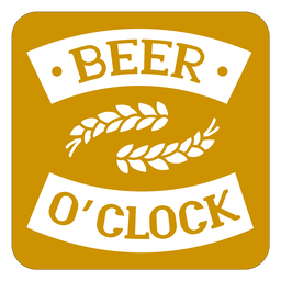 Beer oclock brown square coaster design