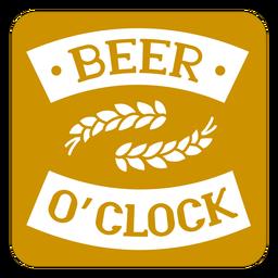 Design de porta-copos quadrado marrom de cerveja oclock