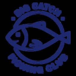 Big catch fishing club badge blue