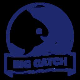 Insignia de pez gancho grande azul