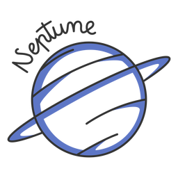 Planeta azul do sistema solar simples de Netuno