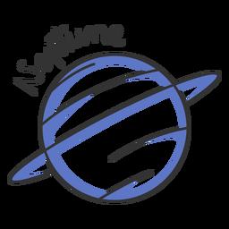 Planeta del sistema solar simple neptuno azul