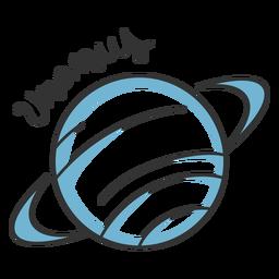 Planeta simples do sistema solar de urano azul