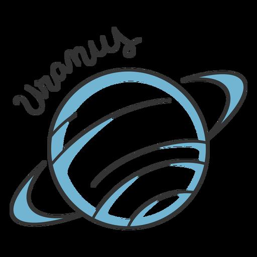 Planeta del sistema solar simple de urano azul