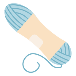 Blue yarn spool flat icon