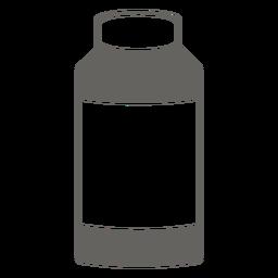 Botella con icono gris tapa