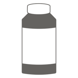 Bottle with cap grey icon