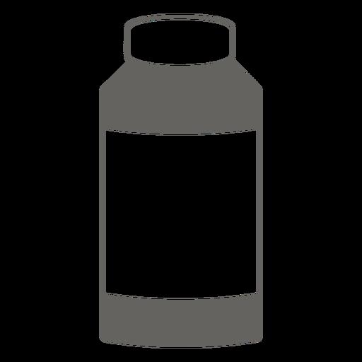 Botella con icono de tapa gris