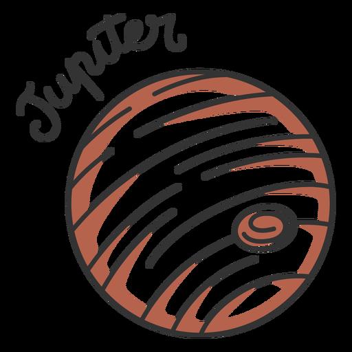 Brown jupiter simple solar system planet
