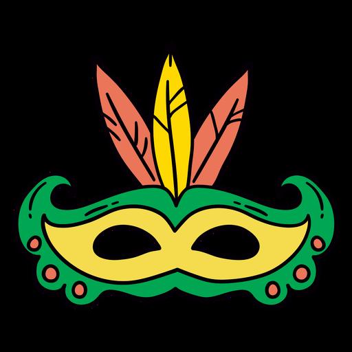 Carnival mask hand drawn symbol