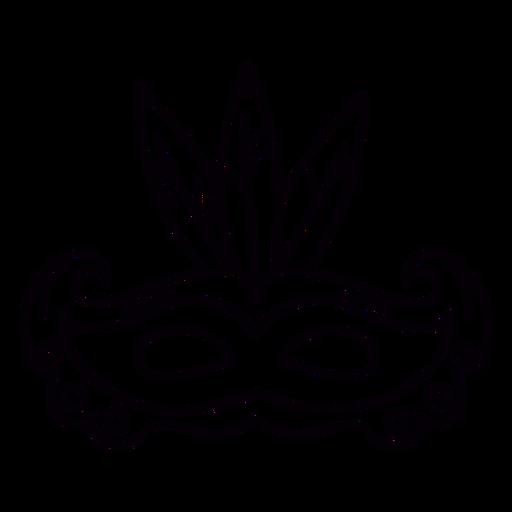Esquema de símbolo dibujado a mano de máscara de carnaval