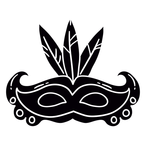Carnival mask hand drawn symbol stencil