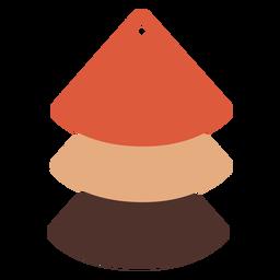 Cascada cuñas pendientes de cuero plano