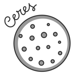 Ceres planeta enano del sistema solar simple