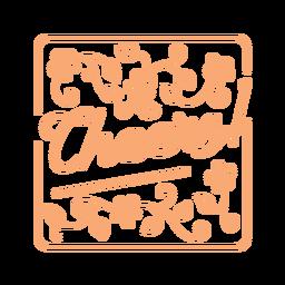 Cheers floral square coaster design