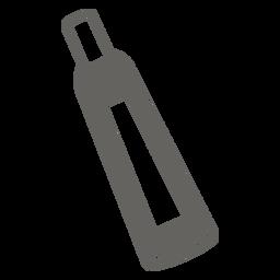 Icono plano tubo químico gris