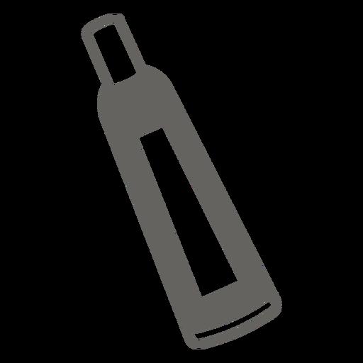 Icono plano gris tubo químico
