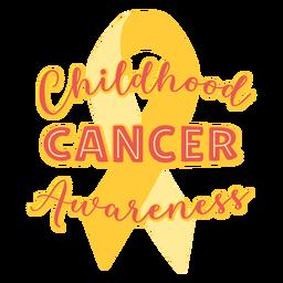 Cita de apoyo a la concienciación sobre el cáncer infantil