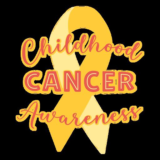 Citação de apoio à conscientização do câncer infantil