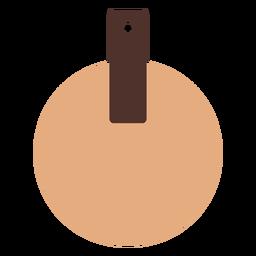 Pendientes circulares de piel planos