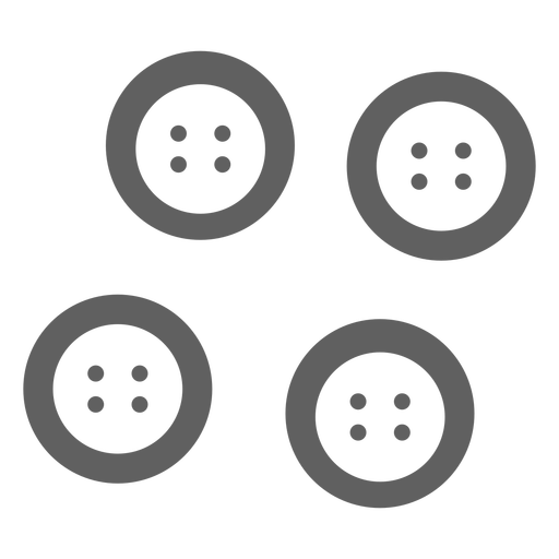 Classic buttons grey icon