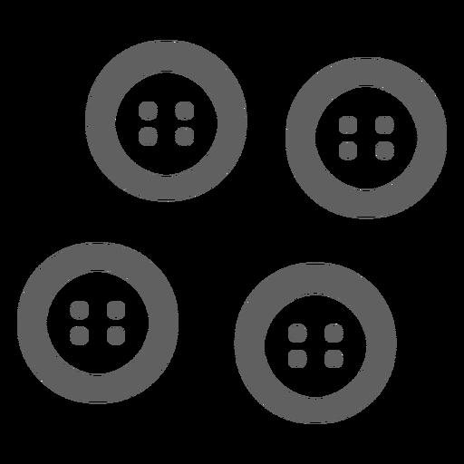 Icono gris de botones clásicos