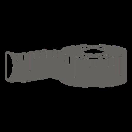 Cloth tape measure grey flat