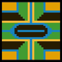 Composição colorida de kente