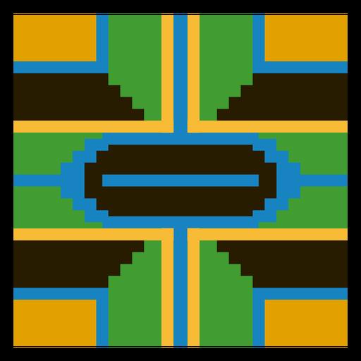 Colored kente composition