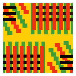 Composição kente de listras coloridas