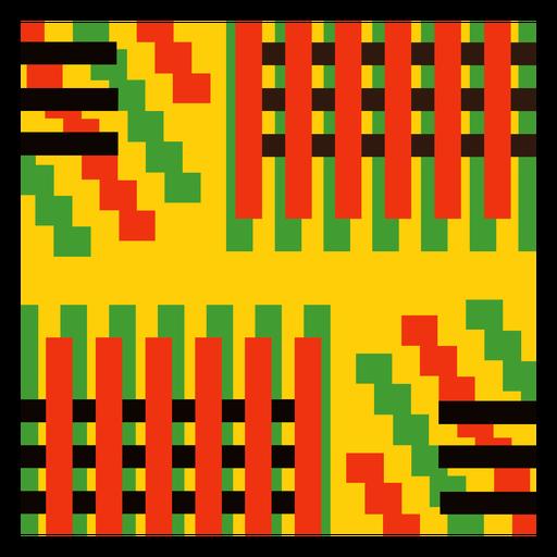 Colored stripe kente composition
