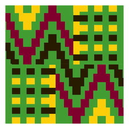 Colorful gometric kente cloth composition