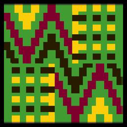 Composição colorida de pano kente gométrica
